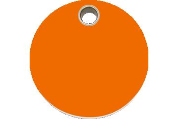 Red Dingo Plastic Tag Circle Orange 04-CL-OR (4CLOS / 4CLOM / 4CLOL)