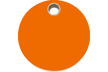 Red Dingo Plastic Tag Circle Orange 04-CL-OR (4CLOS / 4CLOM / 4CLOL)