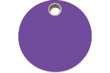 Red Dingo Plastic Tag Circle Purple 04-CL-PU (4CLPS / 4CLPM / 4CLPL)