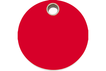 Red Dingo Plastic Tag Circle Rosso 04-CL-RE (4CLRS / 4CLRM / 4CLRL)