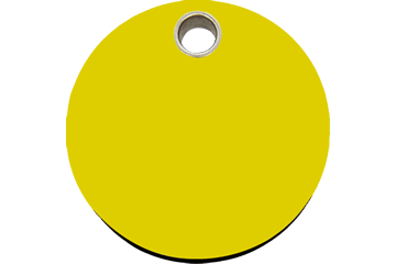 Red Dingo Plastic Tag Circle Yellow 04-CL-YE (4CLYS / 4CLYM / 4CLYL)