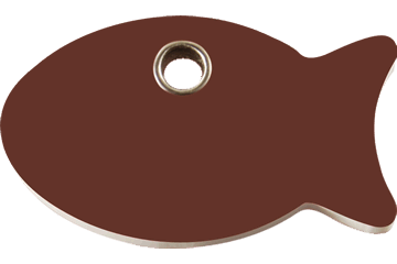 Red Dingo Plastic Tag Fish Brown 04-FI-BR (4FIBRS)