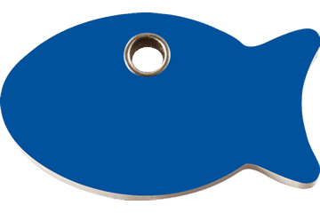 Red Dingo Plastic Tag Fish Dark Blue 04-FI-DB (4FINS)