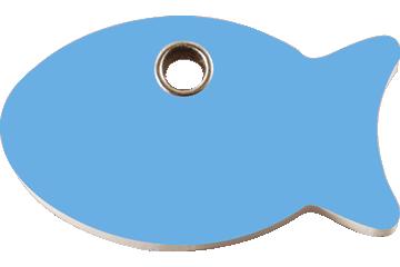 Red Dingo Médaillon en plastique Poisson Bleu Clair 04-FI-LB (4FILBS)