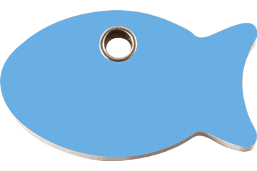 Red Dingo Plastic Tag Fish Light Blue 04-FI-LB (4FILBS)