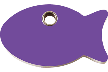 Red Dingo Plastic Tag Fish Purple 04-FI-PU (4FIPS)