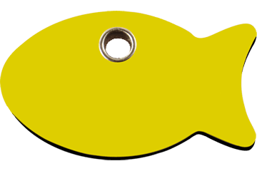 Red Dingo Plastic Tag Fish Yellow 04-FI-YE (4FIYS)