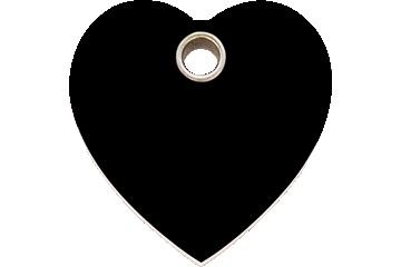 Red Dingo Médaillon en plastique Heart Noire 04-HT-BB (4HTBS / 4HTBM / 4HTBL)
