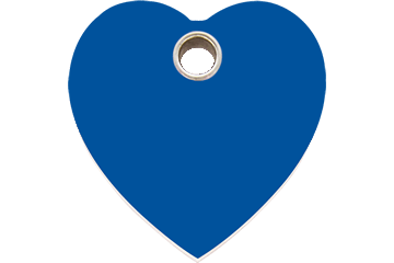 Red Dingo Plastic Tag Heart Dark Blue 04-HT-DB (4HTNS / 4HTNM / 4HTNL)