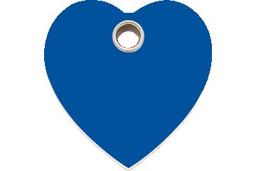 Red Dingo Médaillon en plastique Heart Bleu Foncé 04-HT-DB (4HTNS / 4HTNM / 4HTNL)