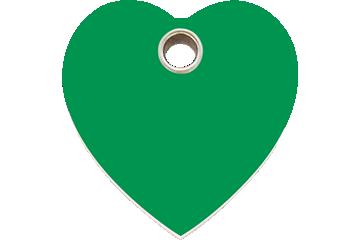 Red Dingo Plastic Tag Heart Green 04-HT-GR (4HTGS / 4HTGM / 4HTGL)