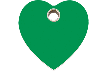 Red Dingo Plastic Tag Heart Green 04-HT-GR (4HTGS / 4HTGM / 4HTGL)