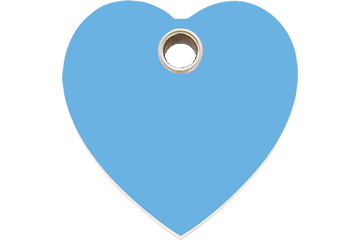 Red Dingo Plastic Tag Heart Light Blue 04-HT-LB (4HTLBS / 4HTLBM / 4HTLBL)