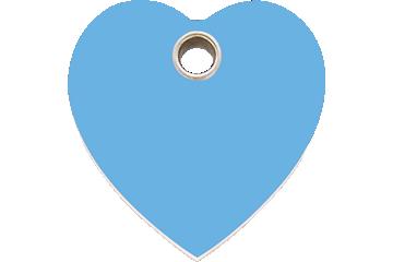 Red Dingo Tiermarke aus Plastik Heart Hellblau 04-HT-LB (4HTLBS / 4HTLBM / 4HTLBL)