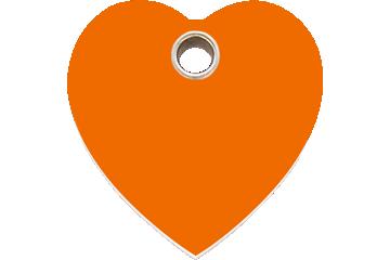 Red Dingo Médaillon en plastique Heart Orange 04-HT-OR (4HTOS / 4HTOM / 4HTOL)