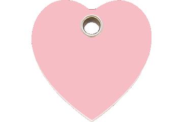 Red Dingo Tiermarke aus Plastik Heart Pink 04-HT-PK (4HTPKS / 4HTPKM / 4HTPKL)