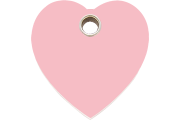Red Dingo Plastic Tag Heart Pink 04-HT-PK (4HTPKS / 4HTPKM / 4HTPKL)