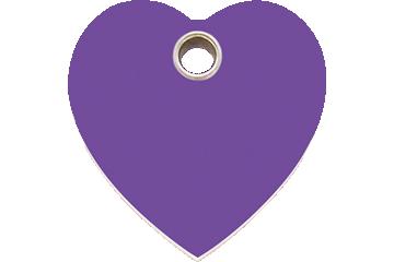 Red Dingo Plastic Tag Heart Purple 04-HT-PU (4HTPS / 4HTPM / 4HTPL)
