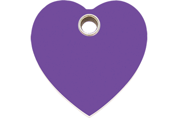 Red Dingo Plastic Tag Heart Purple 04-HT-PU (4HTPS / 4HTPM / 4HTPL)