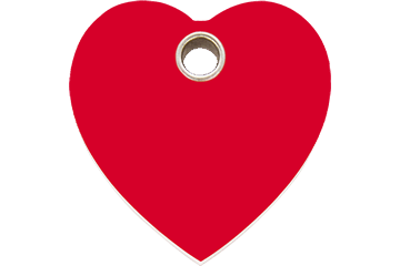 Red Dingo Médaillon en plastique Heart Rouge 04-HT-RE (4HTRS / 4HTRM / 4HTRL)
