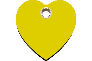 Red Dingo Plastic Tag Heart Yellow 04-HT-YE (4HTYS / 4HTYM / 4HTYL)