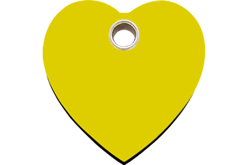 Red Dingo Plastic Tag Heart Yellow 04-HT-YE (4HTYS / 4HTYM / 4HTYL)