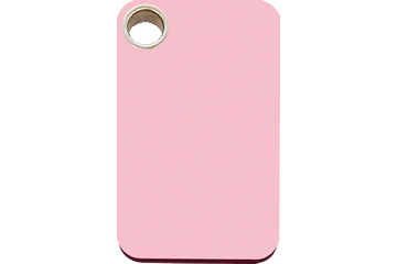 Red Dingo Médaillon en plastique Rectangulaire Rose 04-RT-PK (4RTPKS / 4RTPKM / 4RTPKL)