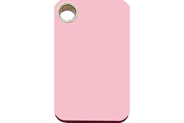 Red Dingo Plastic Tag Rectangular Pink 04-RT-PK (4RTPKS / 4RTPKM / 4RTPKL)