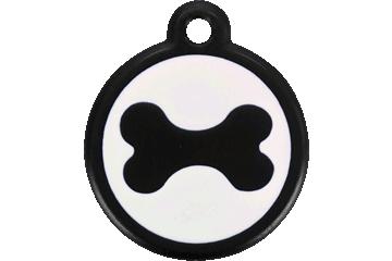 Red Dingo Médaille avec flashcode (QR Code) Os Noire 05-BN-BB (05BNBS / 05BNBL)
