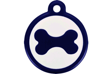 Red Dingo Médaille avec flashcode (QR Code) Os Bleu Foncé 05-BN-DB (05BNS / 05BNNL)