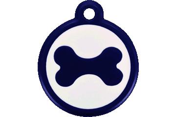 Red Dingo QR Tag Bone Bleu Foncé 05-BN-DB (05BNS / 05BNNL)