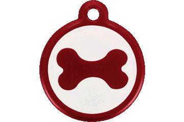 Red Dingo QR Tag Bone Red 05-BN-RE (05BNRS / 05BNRL)