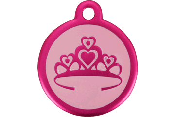 Red Dingo QR Tag Crown Hot Pink 05-CR-HP (05CRHPS / 05CRHPL)