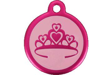 Red Dingo Médaille avec flashcode (QR Code) Couronne Rose Bonbon 05-CR-HP (05CRHPS / 05CRHPL)