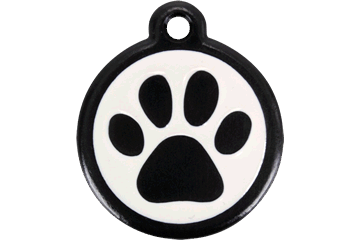Red Dingo QR Tag Paw Prints Noire 05-PP-BB (05PPBS / 05PPBL)