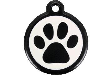Red Dingo QR Tag Paw Prints Black 05-PP-BB (05PPBS / 05PPBL)