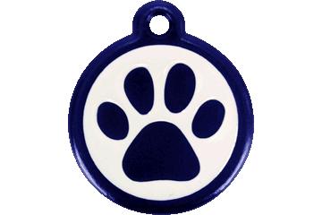 Red Dingo Médaille avec flashcode (QR Code) Patte Bleu Foncé 05-PP-DB (05PPNS / 05PPNL)