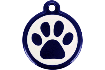 Red Dingo QR Tag Paw Prints Dark Blue 05-PP-DB (05PPNS / 05PPNL)