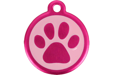 Red Dingo QR Tag Paw Prints Hot Pink 05-PP-HP (05PPHPS / 05PPHPL)