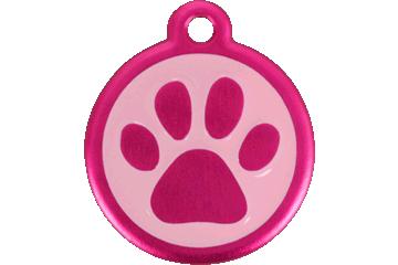 Red Dingo Médaille avec flashcode (QR Code) Patte Rose Bonbon 05-PP-HP (05PPHPS / 05PPHPL)