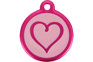 Red Dingo QR Tag Tribal Heart Hot Pink 05-TH-HP (0THBHPL / 05THHPS)