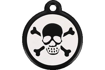 Red Dingo QR Tag Skull & Cross Bones Black 05-XB-BB (05XBBS / 05XBBL)