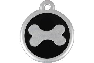 Red Dingo Médaille avec flashcode (QR Code) Os Noire 06-BN-BB (6BNBS / 6BNBL)