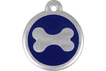 Red Dingo Médaille avec flashcode (QR Code) Os Bleu Foncé 06-BN-DB (6BNNS / 6BNNL)