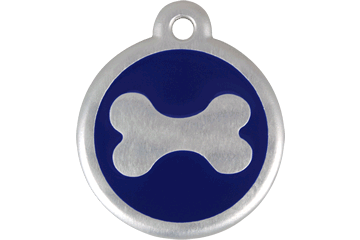 Red Dingo QR Tag Bone Dark Blue 06-BN-DB (6BNNS / 6BNNL)