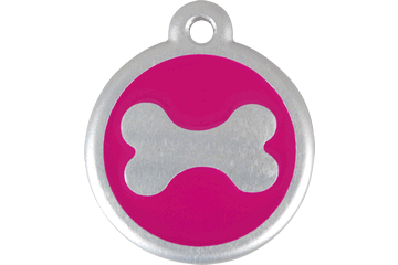 Red Dingo QR Tag Bone Hot Pink 06-BN-HP (6BNHPS / 6BNHPL)