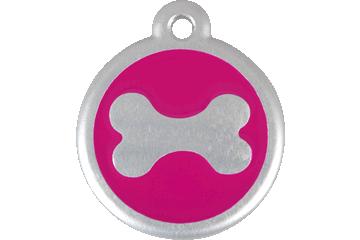 Red Dingo Médaille avec flashcode (QR Code) Os Rose Bonbon 06-BN-HP (6BNHPS / 6BNHPL)
