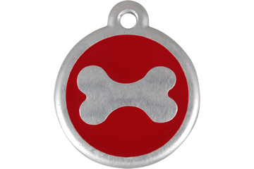 Red Dingo Médaille avec flashcode (QR Code) Os Rouge 06-BN-RE (6BNRS / 6BNRL)
