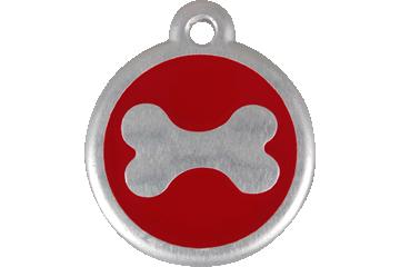 Red Dingo QR Tag Bone Rouge 06-BN-RE (6BNRS / 6BNRL)
