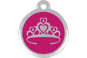 Red Dingo QR Tag Crown Hot Pink 06-CR-HP (6CRHPS / 6CRHPL)